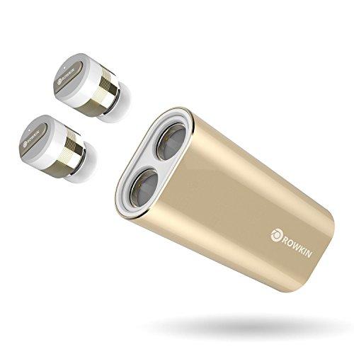 Gold – Rowkin Mini Plus+ True Wireless Earbud, Bluetooth