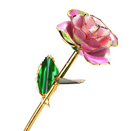 24k Gold Dipped Rose Flower Love Forever for Wife Women Christmas Valentine's Da