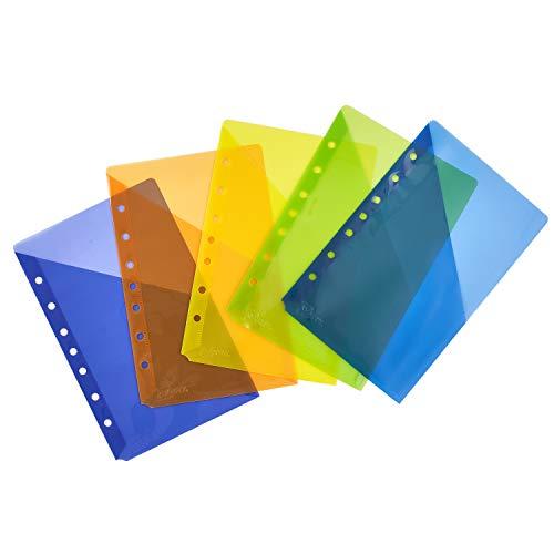 Avery 16180 Write & Erase Plastic Dividers, 5-Tab, 5 1/2 X